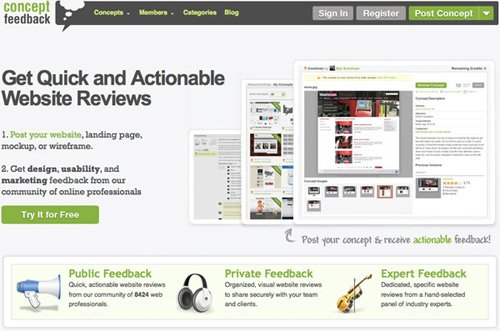 conceptfeedback 20 Tools to Improve Your Websites Usability