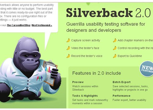 silverbackapp 20 Tools to Improve Your Websites Usability